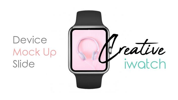 Creative Iwatch Device Mockup Silde 슬라이드_01