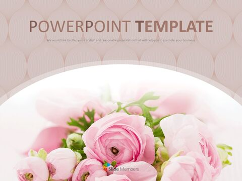 Bouquet of Flowers As a Present - Free PPT Sample_01