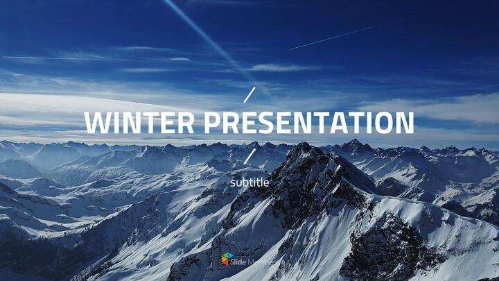겨울 테마 PPT 템플릿_01