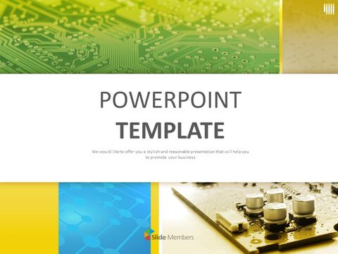 Google Slides Templates Free Download Computer Circuit Boards