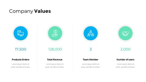 Company Values Page Template Financials Single Slides