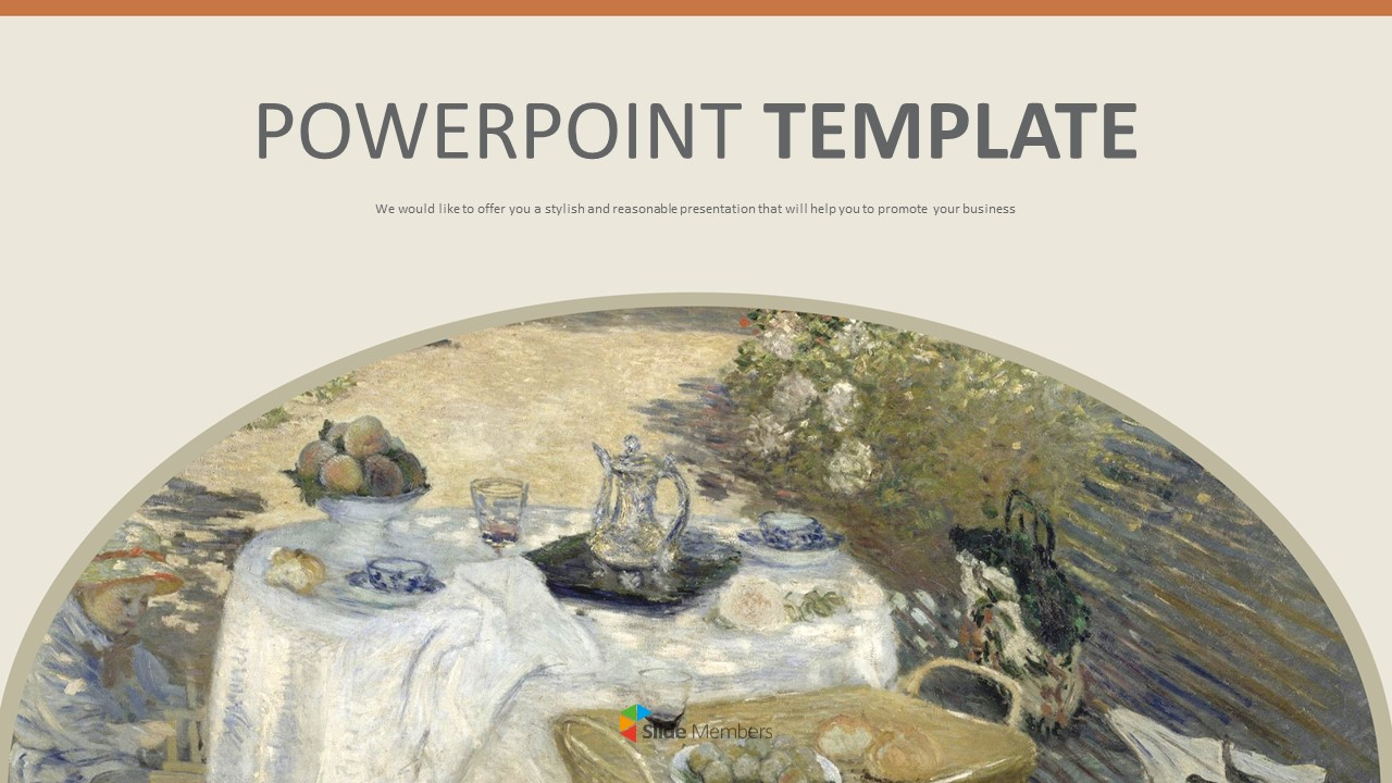 Claude Monet The Luncheon Free Powerpoint Template
