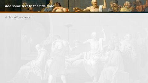 "Jacques-louis David \""소크라테스의 죽음\"" - 무료 템플릿 디자인_04"