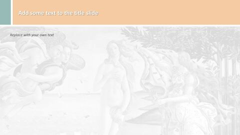 Free Presentation Templates - Sandro Botticelli The Birth