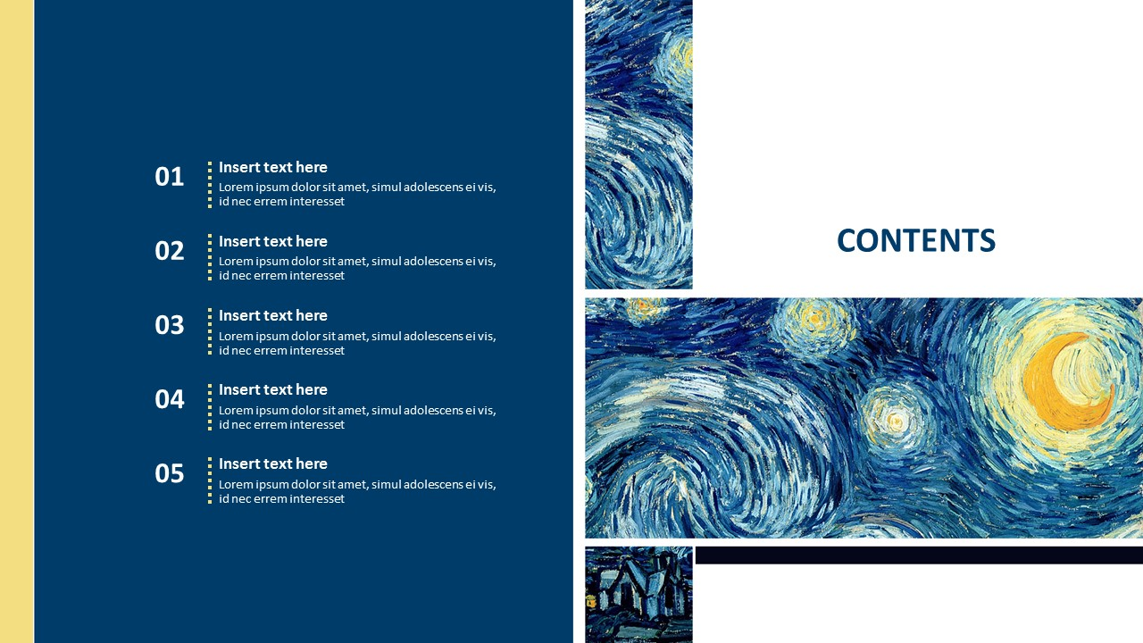 """Vincent Van Gogh """"The Starry Night"""" - Free Powerpoint Template"""