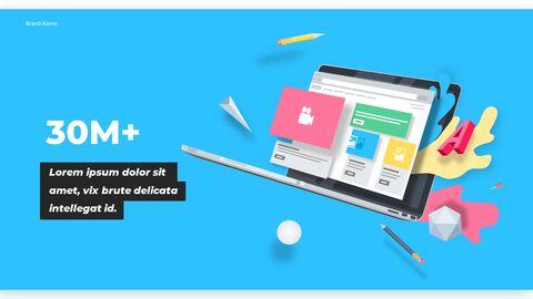 우리는 Creative Pitch Deck Design입니다. 편집이 쉬운 프레젠테이션 템플릿_06