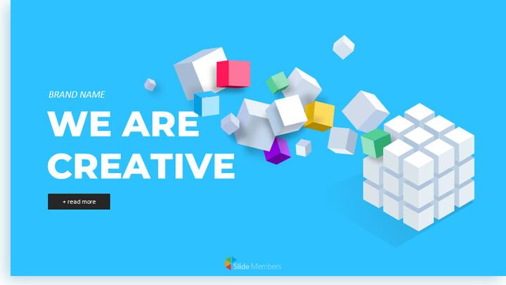 우리는 Creative Pitch Deck Design입니다. 심플한 Google 슬라이드 템플릿_01