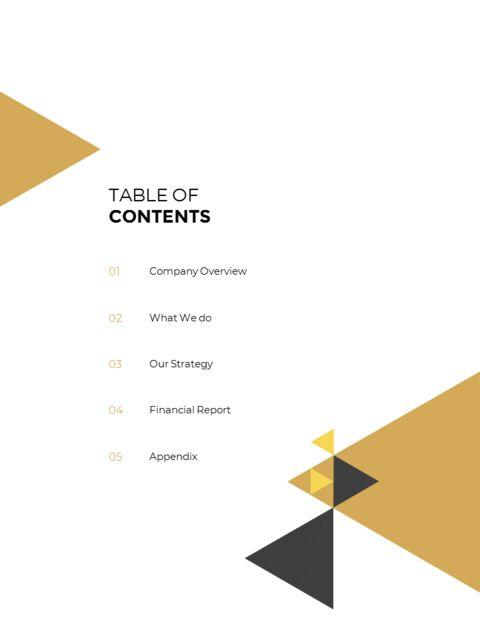 기하학적 도형 연례 보고서 디자인 파워포인트 프레젠테이션 슬라이드_03