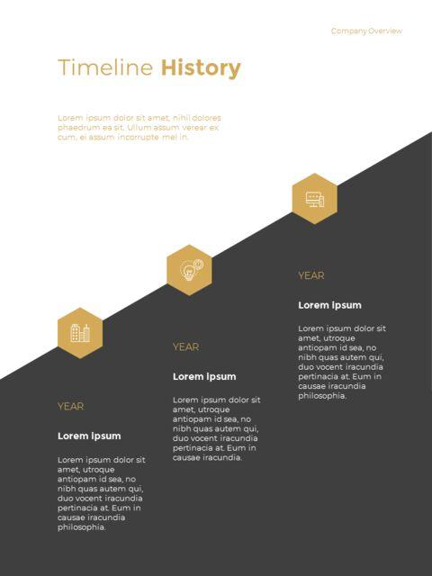 기하학적 도형 연례 보고서 디자인 파워포인트 프레젠테이션 슬라이드_06