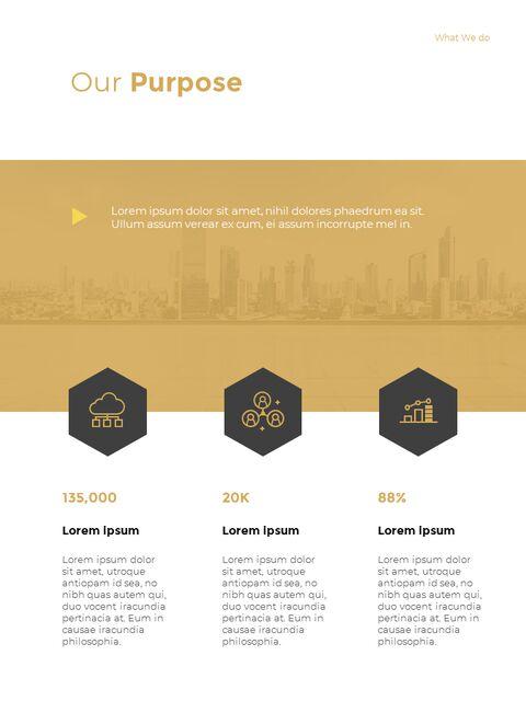 기하학적 도형 연례 보고서 디자인 파워포인트 프레젠테이션 슬라이드_08