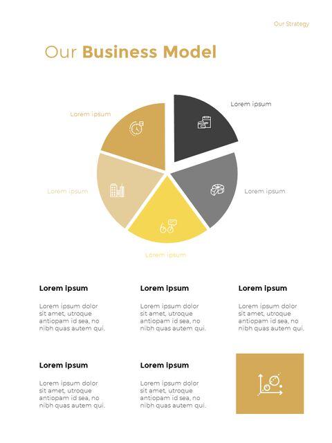기하학적 도형 연례 보고서 디자인 파워포인트 프레젠테이션 슬라이드_10