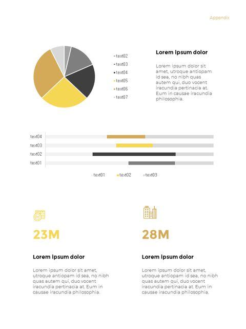 기하학적 도형 연례 보고서 디자인 파워포인트 프레젠테이션 슬라이드_23