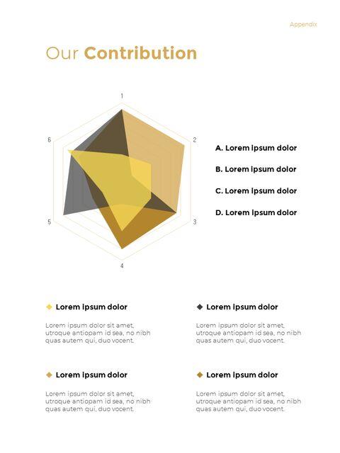 기하학적 도형 연례 보고서 디자인 파워포인트 프레젠테이션 슬라이드_25