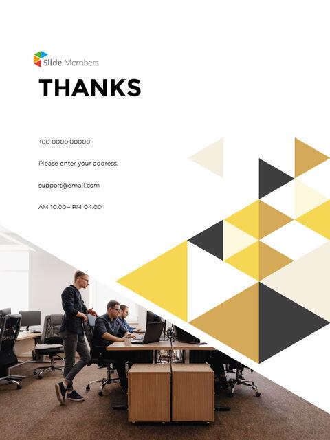 기하학적 도형 연례 보고서 디자인 파워포인트 프레젠테이션 슬라이드_26