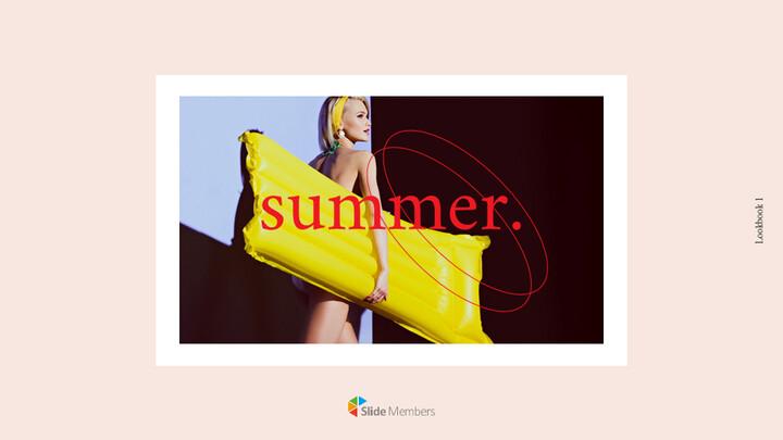 여름 룩북 심플한 구글슬라이드_01