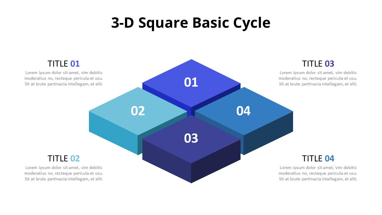 3D Block Layers Diagram [ 720 x 1280 Pixel ]