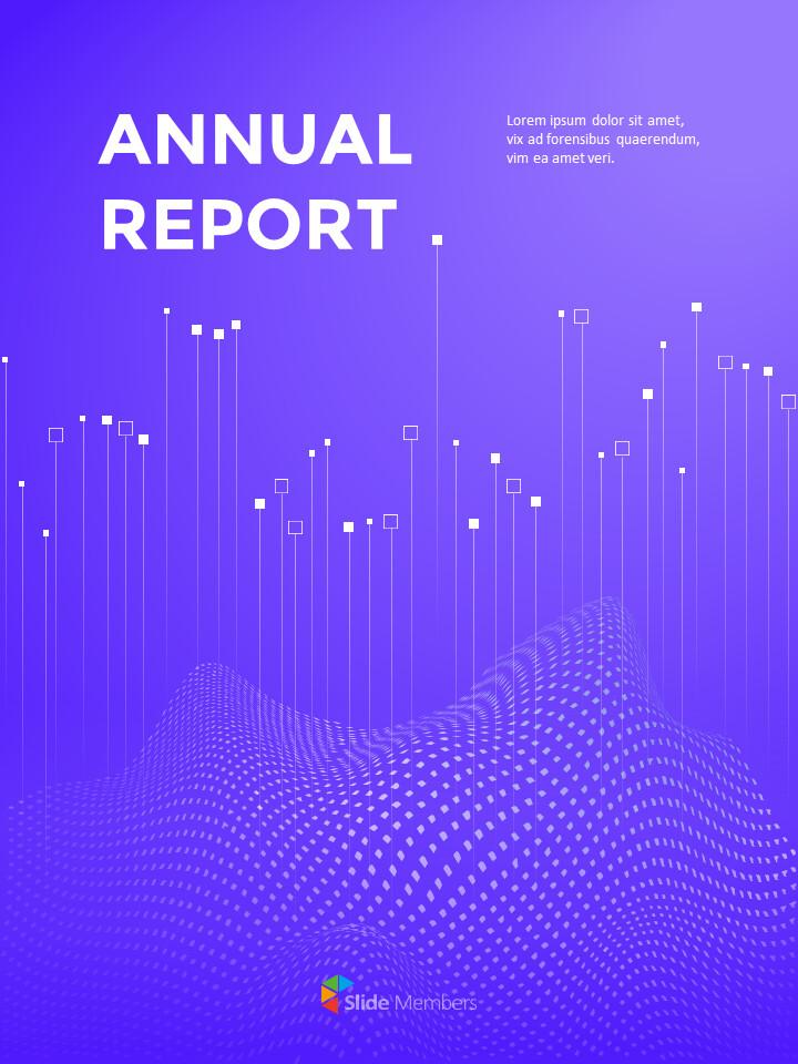 동적 배경 연례 보고서 베스트 PPT 슬라이드_01