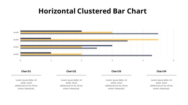 Cluster Horizontal Bar Chart and Texts_01