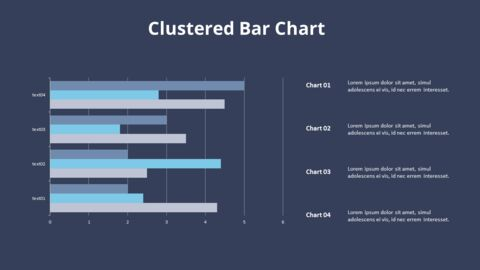 Cluster Horizontal Bar Chart and Texts_16