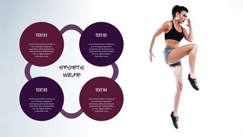 여성용 스포츠웨어 모던한 PPT 템플릿_05
