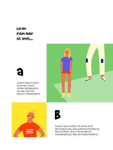 남성 일러스트 세로형 디자인 비즈니스 사업 PPT 템플릿_10