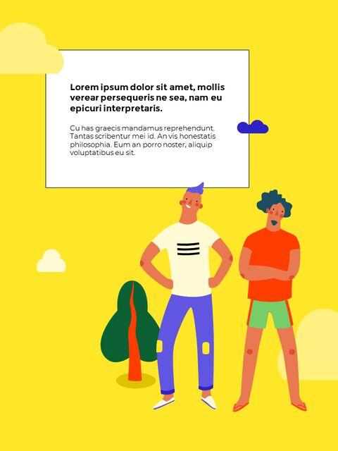 남성 일러스트 세로형 디자인 비즈니스 사업 PPT 템플릿_26
