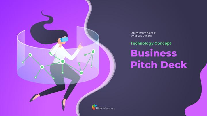 Progettazione animata del mazzo di passo di affari di concetto di tecnologia_01
