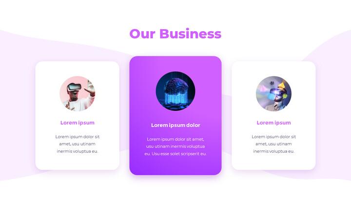 Progettazione animata del mazzo di passo di affari di concetto di tecnologia_02