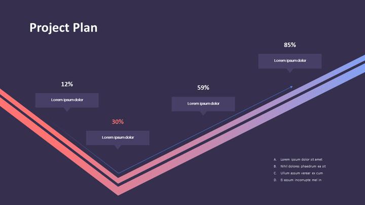 프로젝트 계획 흐름 PPT 슬라이드_01