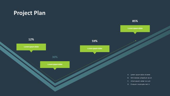 프로젝트 계획 흐름 PPT 슬라이드_02