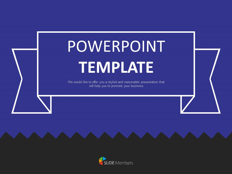 Free Powerpoint Templates Design Dark Blue And Black Background With Zigzags
