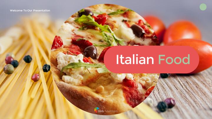 이탈리아 음식 비즈니스 프레젠테이션 템플릿_01