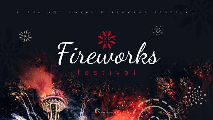 불꽃 놀이 축제 편집이 쉬운 구글 슬라이드 템플릿_01