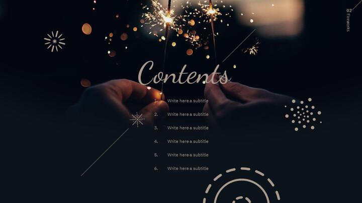 불꽃 놀이 축제 편집이 쉬운 구글 슬라이드 템플릿_02