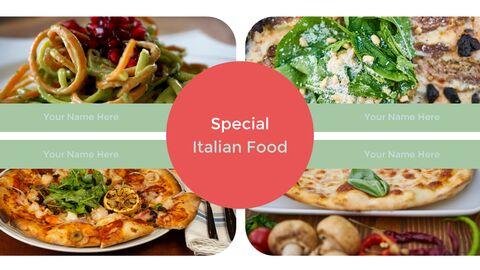 이탈리아 음식 비즈니스 프레젠테이션 템플릿_17