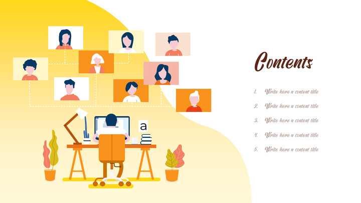 Working from Home Business plan PPT Templates_02