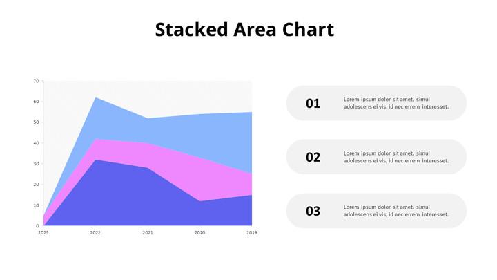 목록이있는 3 단계 채워진 영역 차트_02