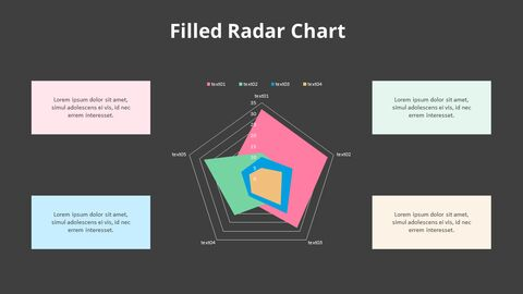 Color Filled Radar Chart with Text_11
