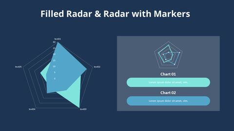 Filled Radar Chart with Text_05