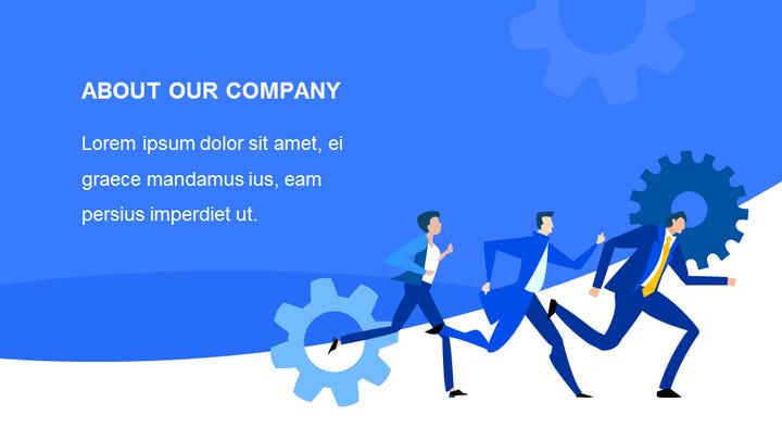 블루 피치덱 템플릿 디자인 슬라이드 덱_02