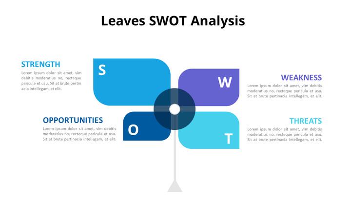 Leaves SWOT Analysis Diagram Animation Diagram_01