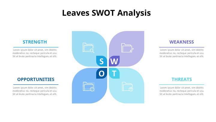 Leaves SWOT Analysis Diagram Animation Diagram_02