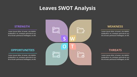 Leaves SWOT Analysis Diagram Animation Diagram_09