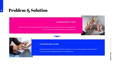 간단한 색상 피치덱 템플릿 프레젠테이션 PowerPoint 템플릿 디자인_04