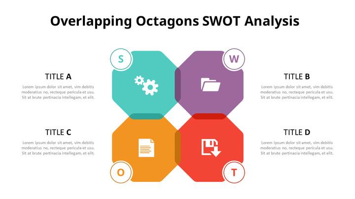 SWOT 분석 다이어그램 애니메이션 슬라이드_01
