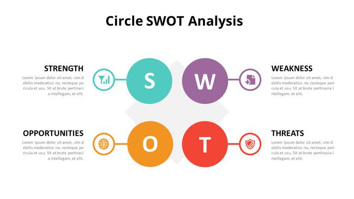 SWOT 분석 다이어그램 애니메이션 슬라이드_02