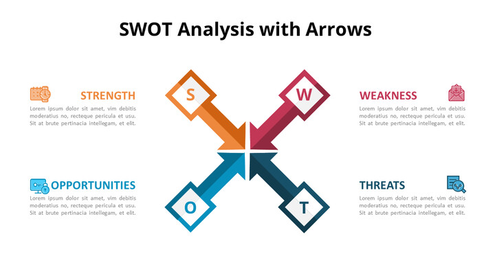 SWOT Analysis with Icons Diagram Animated PowerPoint Templates_01