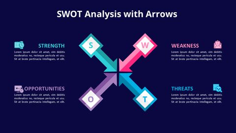 SWOT Analysis with Icons Diagram Animated PowerPoint Templates_04