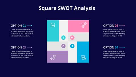 SWOT Analysis with Icons Diagram Animated PowerPoint Templates_05