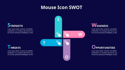 SWOT Analysis with Icons Diagram Animated PowerPoint Templates_06